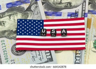 US dollars background Word