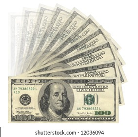 US Dollars banknotes, isolated