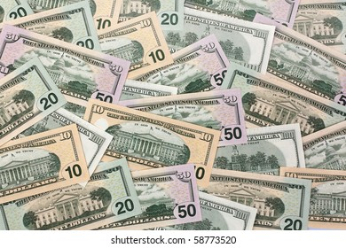 U.S. dollars bills. Currency of the United States.