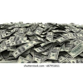 Us Dollars isolated background