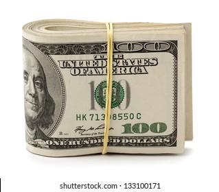 U.S. dollars isolated on white background.