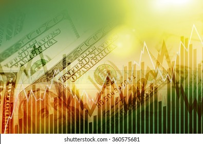 US Dollars Trading Concept. USD Currency Trading Marketplace Concept.