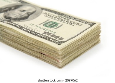 us dollars with white background, business concept