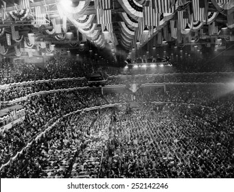 US Elections. The Democratic National Convention in Chicago, Illinois, July, 1940.