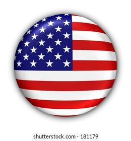 US Flag Button