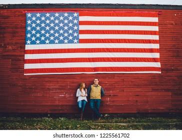 US Flag Couple