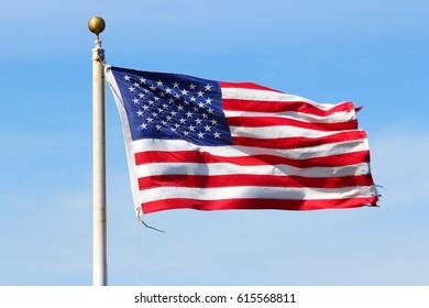 US flag - national symbol of the United States.