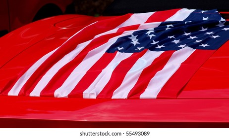 US flag on red car trunk clicked during word cup 2010