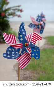 US Flag PinWheels