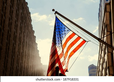 us flag,new york city