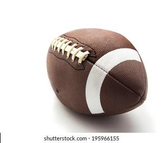 us football ball on white background