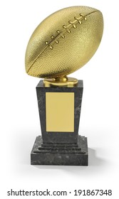 US football trophy