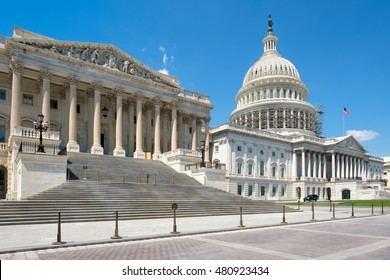 The US House of Representatives and the Capitol building dome in Washington D.C.