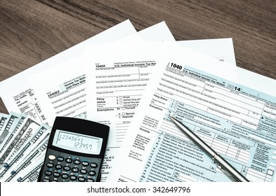 U.S. Individual income tax return. tax 1040. tinted photo