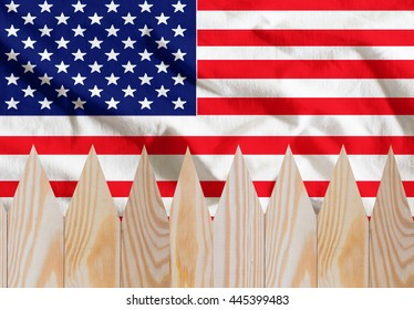 US July 4 Independence Day celebrations a success,US flag background wooden fence