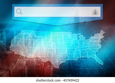 us map with states half transparent white map of united states at colourful background