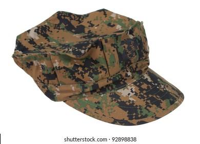 us marine camouflage cap isolated on white background