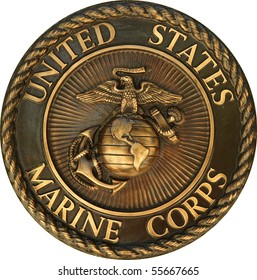 US Marine Corps commemorative plaque