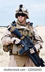 US marine in the desert