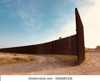 US Mexican border wall Texas