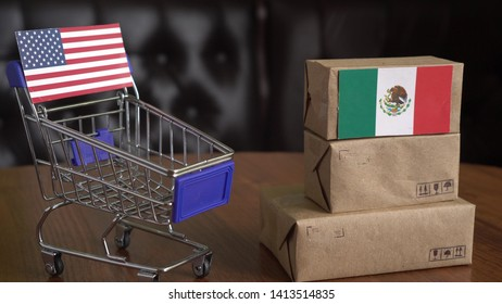 US - Mexico goods trading partners. Tariffs on Mexican imports. United States of America - Mexico Trade War