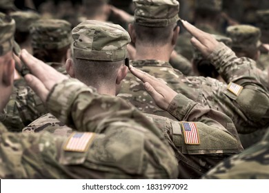US military salute. US Army Soldiers. Memorial Day. Veterans Day.