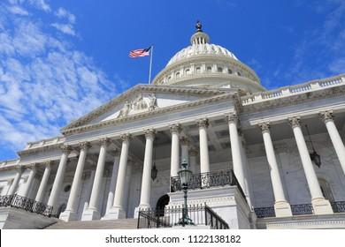 US National Capitol in Washington, DC. Amerikanische Wahrzeichen.