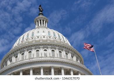 US National Capitol in Washington, DC. American landmark. United States Capitol.