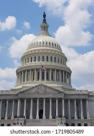 US National Capitol in Washington, DC. July 04,2018 American landmark.