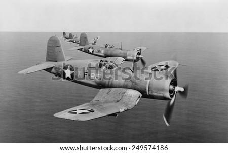 US Navy F4Us Corsairs