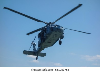 US Navy Sikorsky SH-60 Seahawk training for counter-terrorism operations in Norfolk, Virginia.