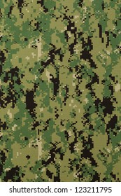 US navy working uniform aor 2 digital camouflage fabric texture background