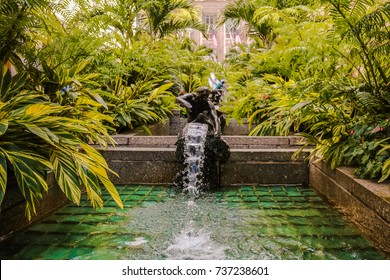 US New York Manhattan Rockefeller Center Nature Path