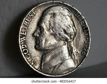 US nickel coin