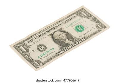 US one Dollar bill, close up photo