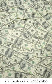 US one hundred dollar bills background