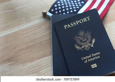 US passport American flag as background