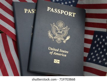 US passport and American flag as background perfect for background