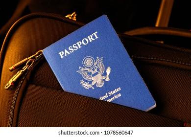 us passport in the bag pocket