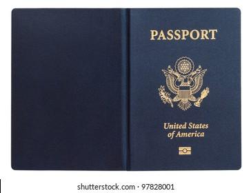 us passport isolated on white background