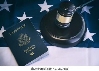 Us passport, law, legal,citizenship,immigration concept image
