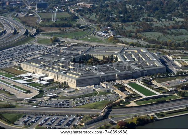 US Pentagon Washington DC von oben gesehen