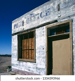 U.S. Post office in a ghost town in the middle of the desert