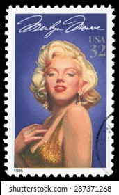 US postage stamp Marilyn Monroe, issued by USPS in 1995.