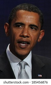 US President, Barack Obama at a public appearance for 2009 Annual Meeting of the Clinton Global Initiative-Opening Plenary, Sheraton New York Hotel and Towers, New York September 22, 2009