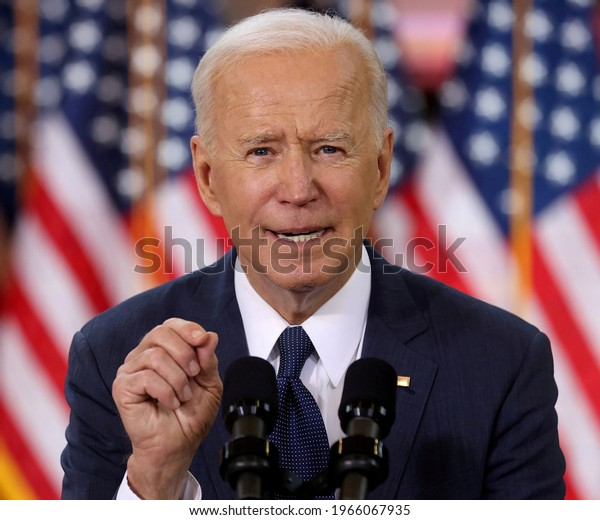 U.S. President Joe Biden speaks about his $2 trillion infrastructure plan during an event to tout the plan at Carpenters Pittsburgh Training Center in Pittsburgh, Pennsylvania, U.S., March 31, 2021.