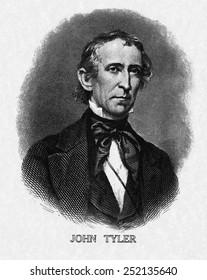 US Presidents. US President John Tyler.