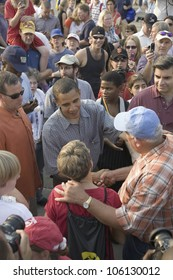 U.S. Senator Barak Obama campaigning for President at Iowa State Fair in Des Moines Iowa, August 16, 2007