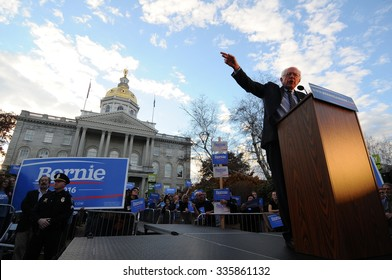 U.S. Senator Bernie Sanders speaks at a rally in Concord, New Hampshire, on November 5, 2015, after filing to run in the Democratic presidential primary.