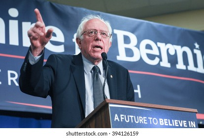 U.S. Senator Bernie Sanders speaks in Bedford, New Hampshire, on January 22, 2016.